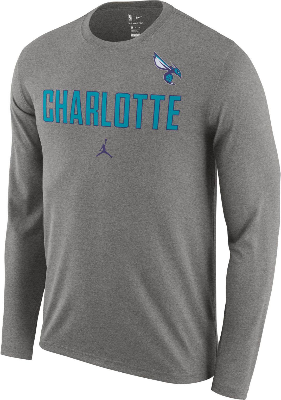 on sale 29025 bbdc7 Jordan Men s Charlotte Hornets Dri-FIT Facility Long Sleeve Shirt 1