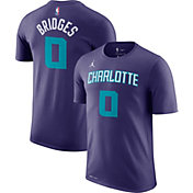 Nike Men's Charlotte Hornets Miles Bridges #0 Dri-FIT Purple T-Shirt