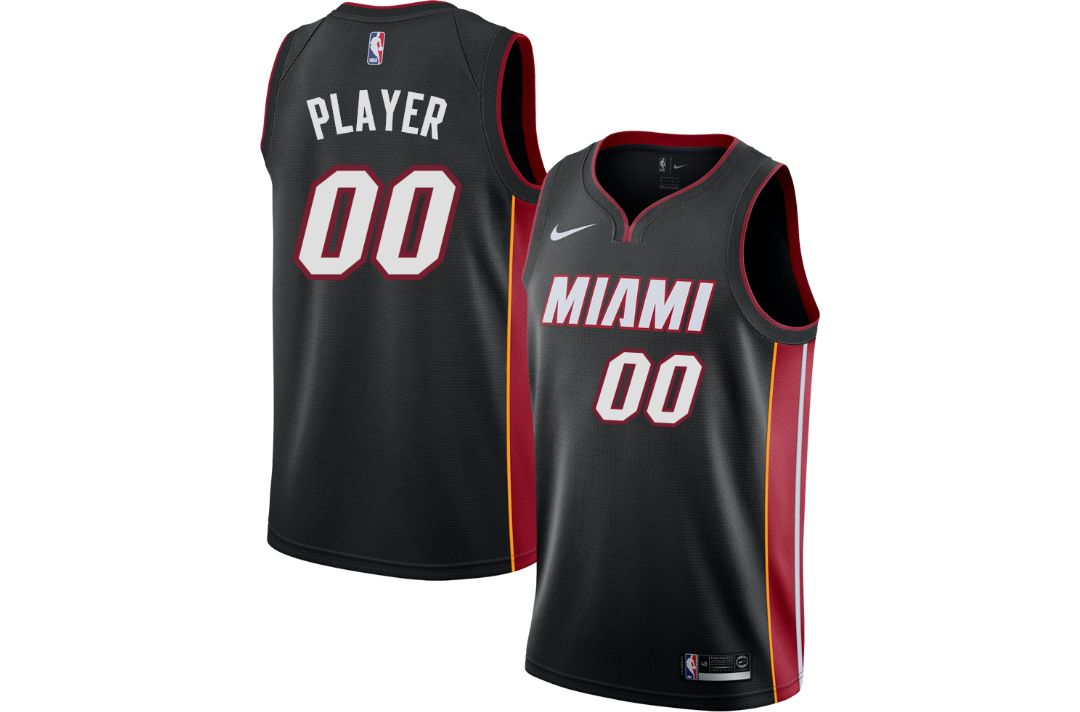 076e633ac9c Nike Men's Full Roster Miami Heat Black Dri-FIT Swingman Jersey ...