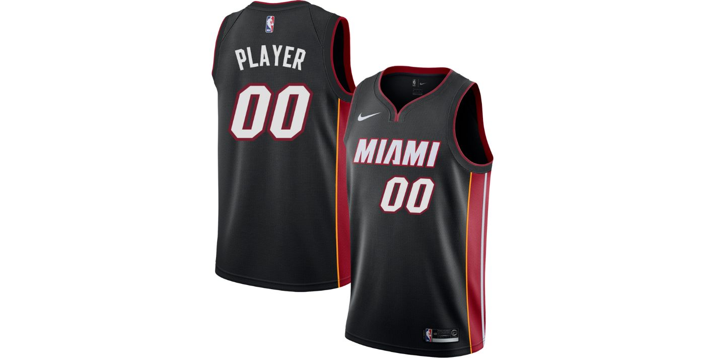 Nike Men's Full Roster Miami Heat Black Dri-FIT Swingman Jersey