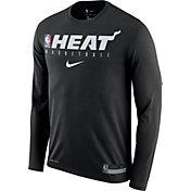 Nike Men's Miami Heat Dri-FIT Practice Long Sleeve Shirt