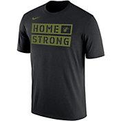 "Nike Men's Miami Heat Dri-FIT ""Home Strong"" Black Shooting Shirt T-Shirt"