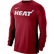 Nike Men's Miami Heat Dri-FIT Long Sleeve Shooting  Shirt