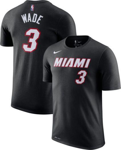 Nike Men s Miami Heat Dwyane Wade  3 Dri-FIT Black T-Shirt. noImageFound 3366213f8