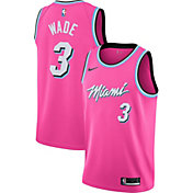 Nike Men's Miami Heat Dwyane Wade Dri-FIT Earned Edition Swingman Jersey