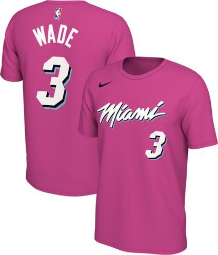 18be29e5d7e Nike Men s Miami Heat Dwyane Wade Dri-FIT Earned Edition T-Shirt.  noImageFound