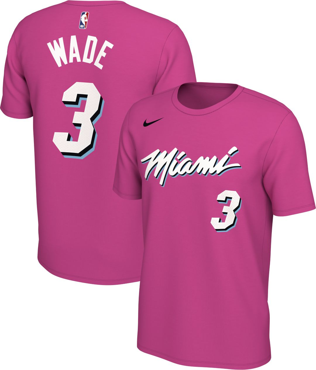 finest selection 0faac a47b3 Nike Men's Miami Heat Dwyane Wade Dri-FIT Earned Edition T-Shirt