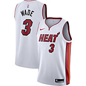 Nike Men's Miami Heat Dwyane Wade #3 White Dri-FIT Swingman Jersey