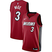 Nike Men's Miami Heat Dwyane Wade #3 Red Dri-FIT Statement Swingman Jersey