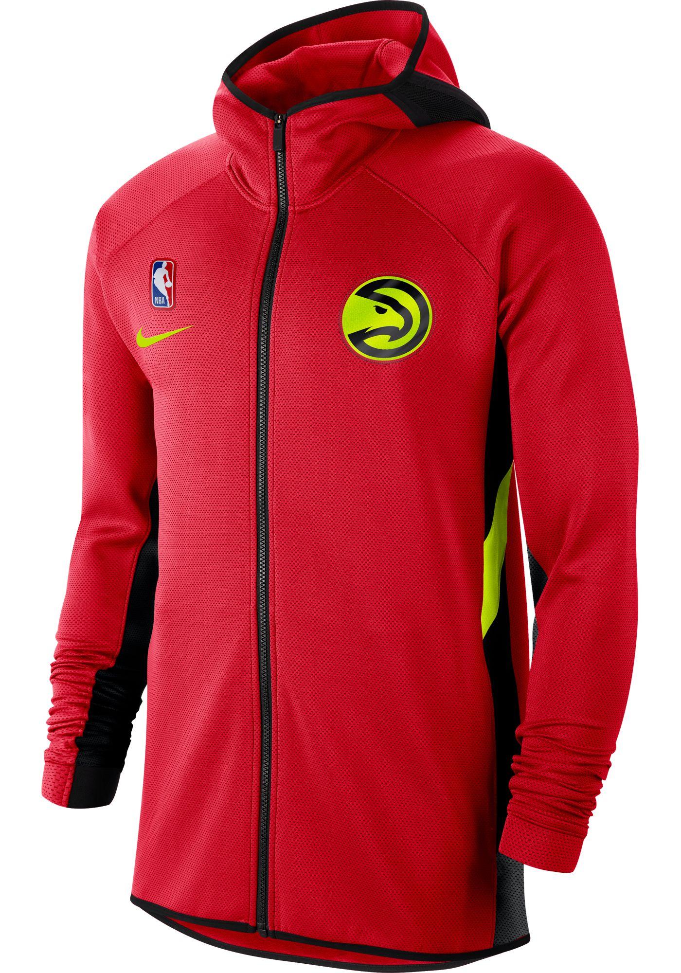 Nike Men's Atlanta Hawks On-Court Therma Flex Showtime Full-Zip Hoodie