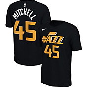 Nike Men's Utah Jazz Donovan Mitchell #45 Dri-FIT Black T-Shirt