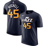 Nike Men's Utah Jazz Donovan Mitchell #45 Dri-FIT Navy T-Shirt