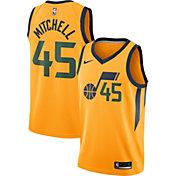 Nike Men's Utah Jazz Donovan Mitchell #45 Gold Dri-FIT Statement Swingman Jersey