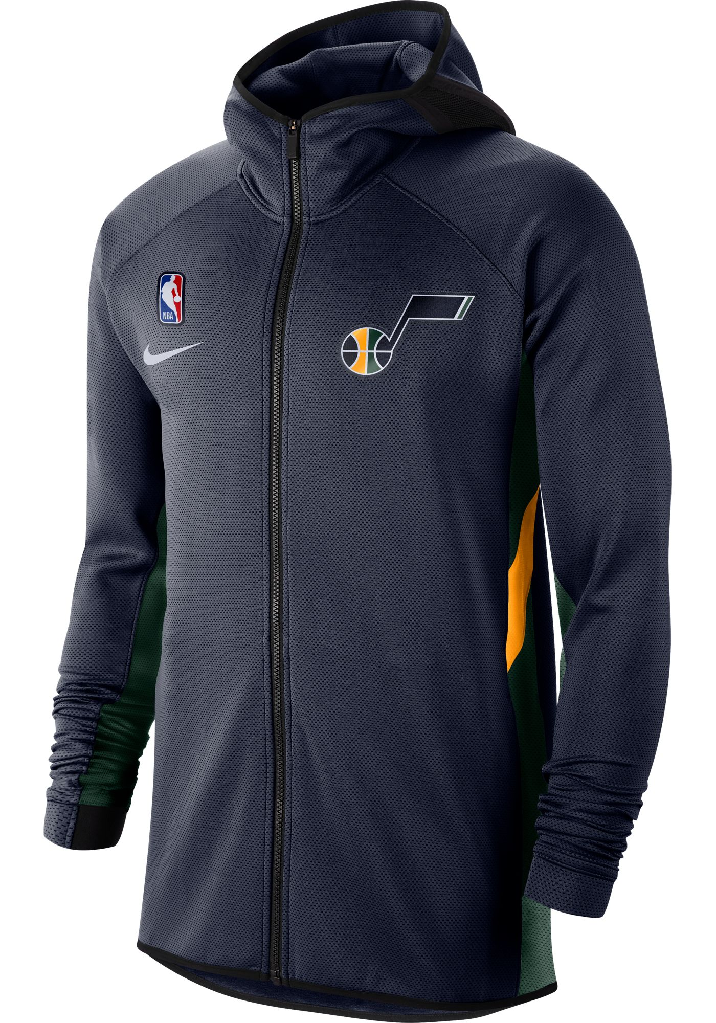 Nike Men's Utah Jazz On-Court Therma Flex Showtime Full-Zip Hoodie