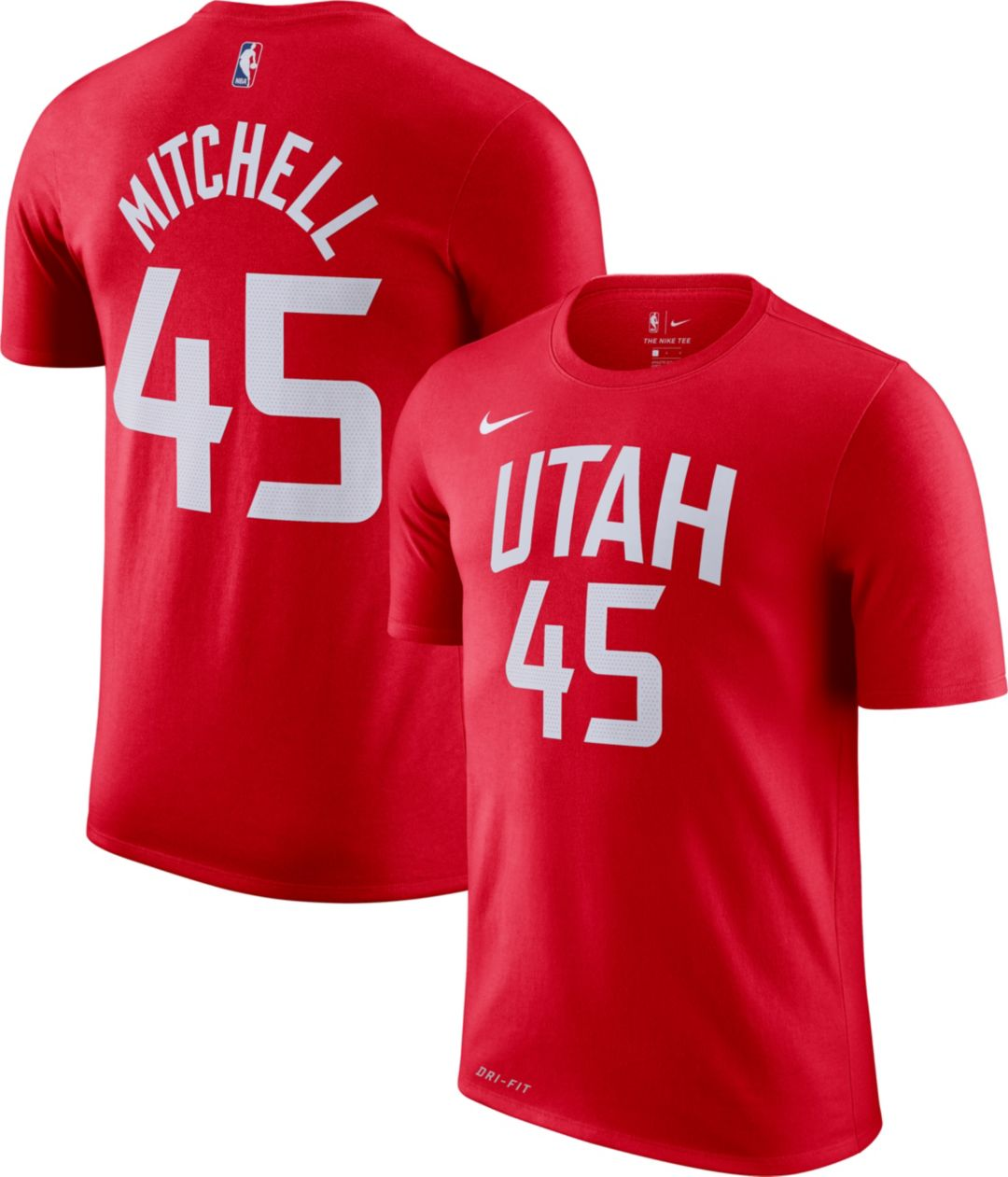 new product b108f cbb45 Nike Men's Utah Jazz Donovan Mitchell Dri-FIT City Edition T-Shirt