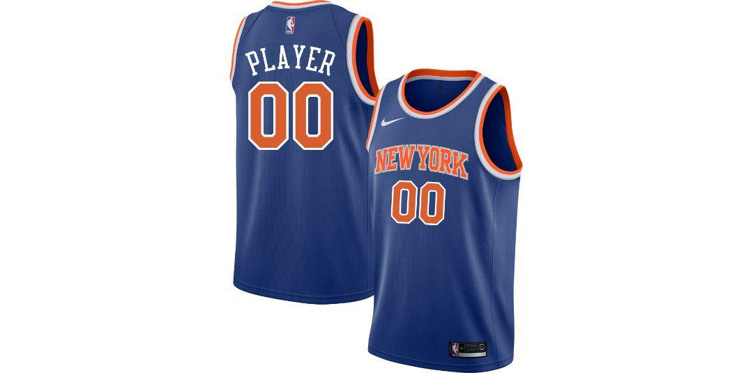 check out 369bd d92ca Nike Men's Full Roster New York Knicks Royal Dri-FIT Swingman Jersey