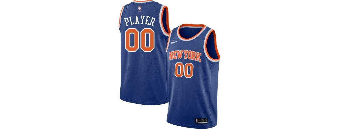 Nike Men's Full Roster New York Knicks Royal Dri-FIT Swingman Jersey