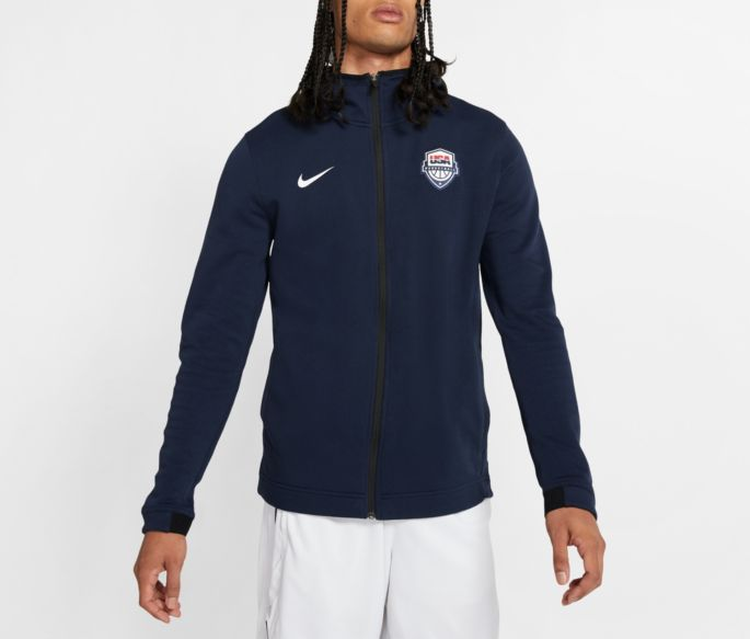 shopping new photos aliexpress Nike Men's USA Basketball Navy Showtime Full-Zip Hoodie
