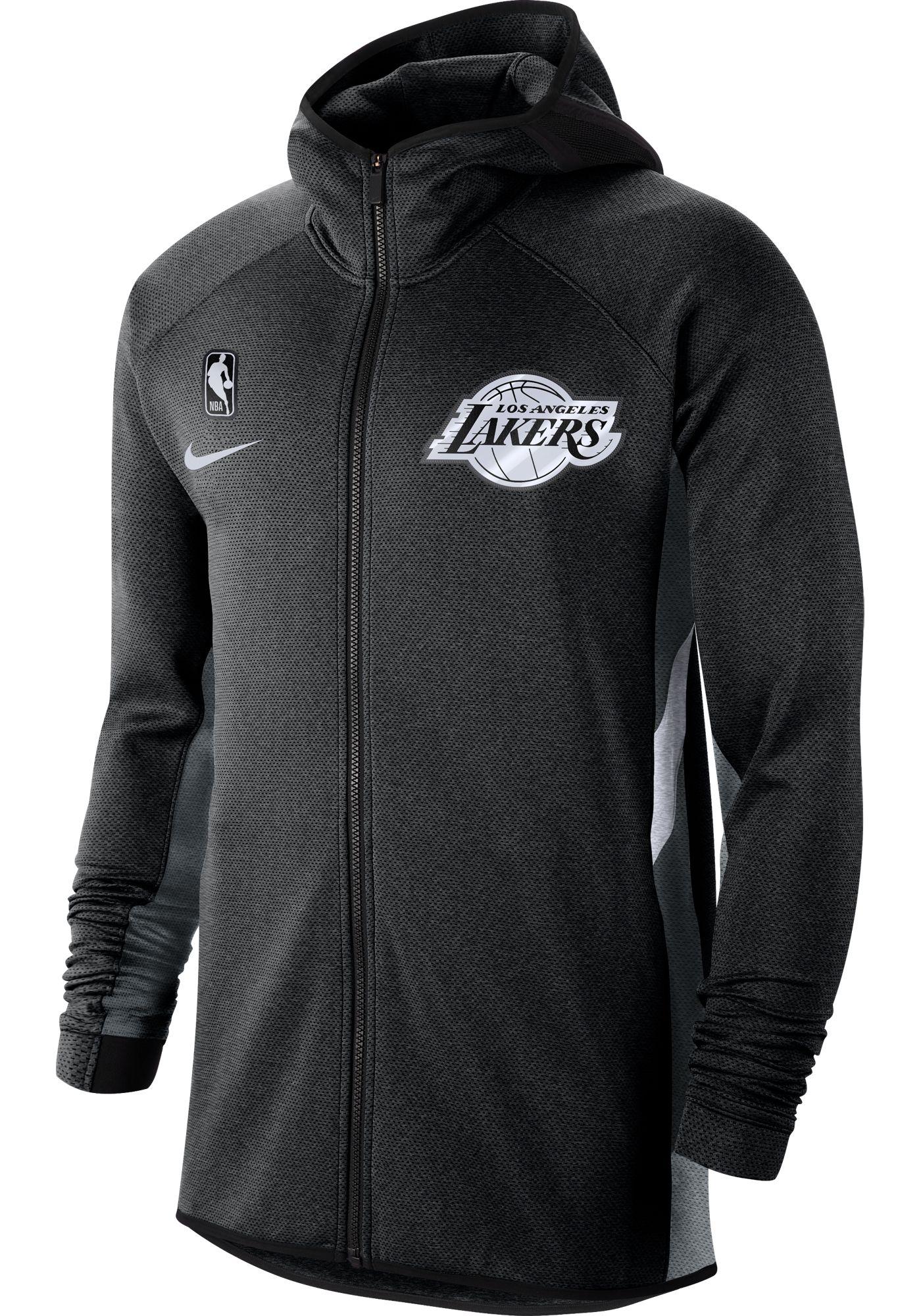 Nike Men's Los Angeles Lakers On-Court Therma Flex Showtime Full-Zip Hoodie