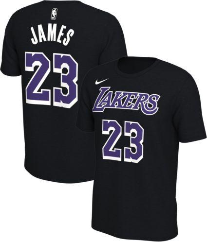 d470b640e92 Nike Men's Los Angeles Lakers LeBron James #23 Dri-FIT Black T-Shirt ...