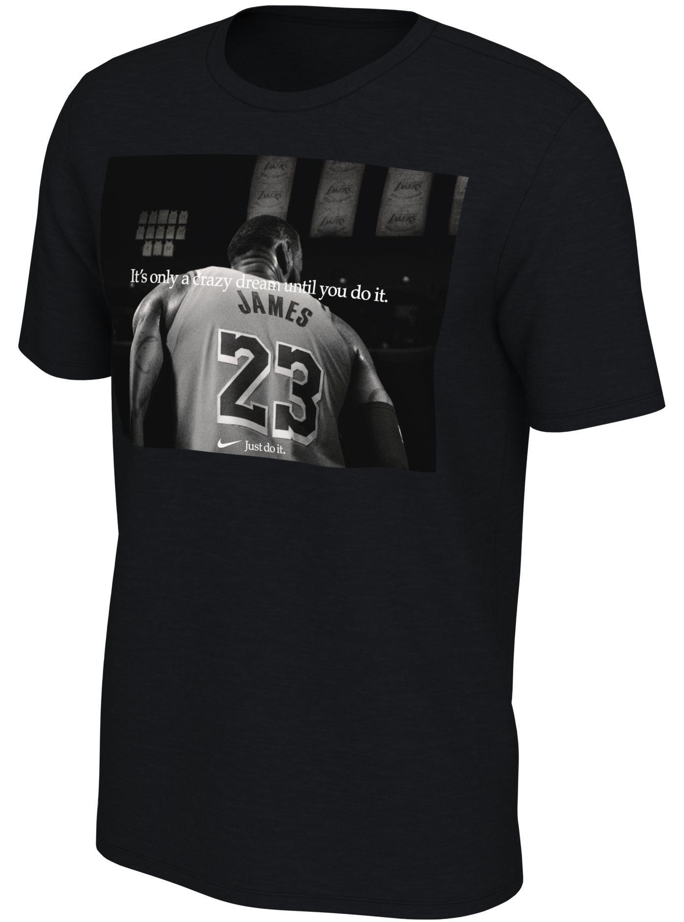 "Nike Men's Los Angeles Lakers LeBron James Dri-FIT ""Just Do It"" T-Shirt"