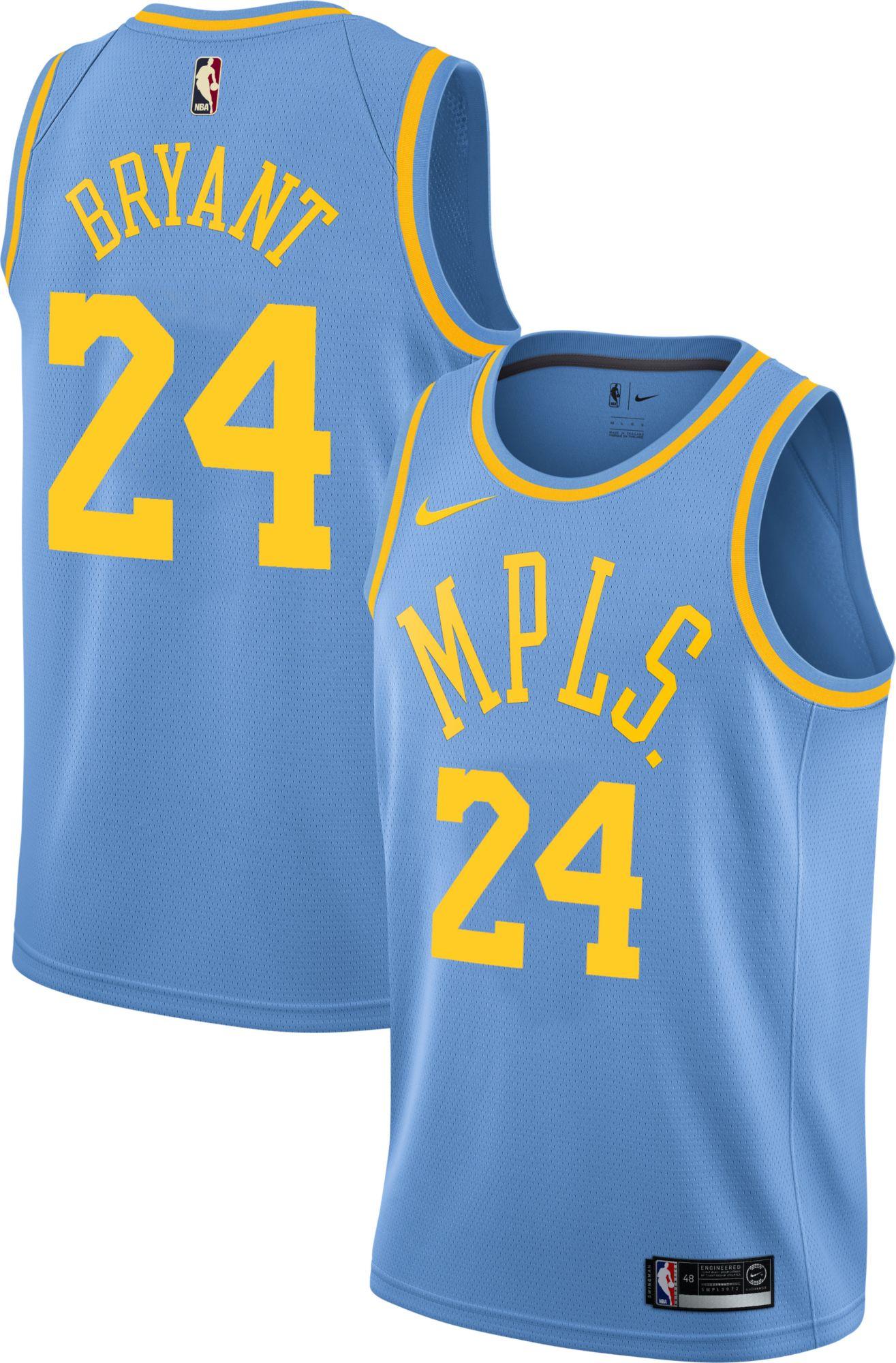 Nike Men s Los Angeles Lakers Kobe Bryant  24 Light Blue Dri-FIT ... 616a87779