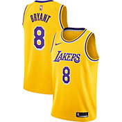 Nike Men's Los Angeles Lakers Kobe Bryant #8 Dri-FIT Gold Swingman Jersey