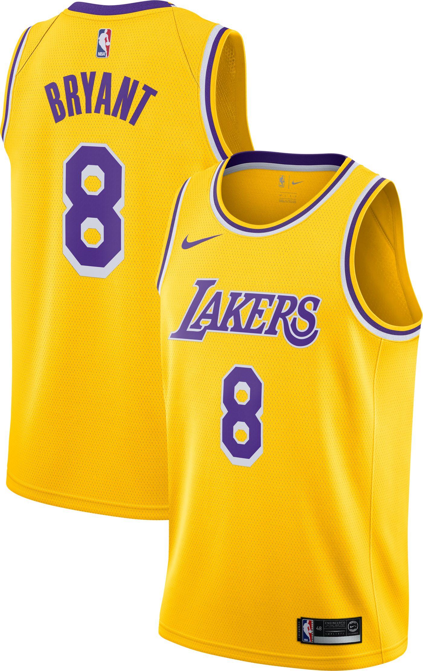 Nike Men's Los Angeles Lakers Kobe Bryant #8 Dri-FIT Gold Swingman Jersey