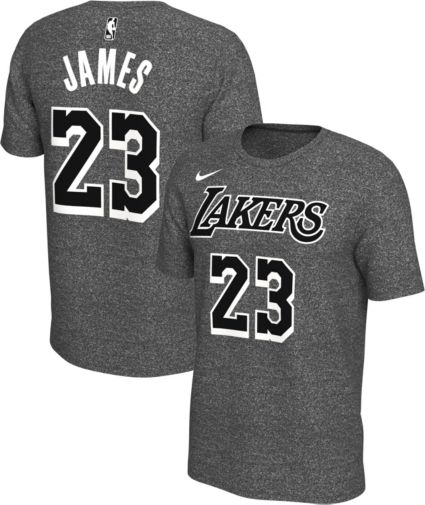 0ec154ff0 Nike Men s Los Angeles Lakers LeBron James  23 Dri-FIT Grey T-Shirt.  noImageFound
