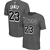 Nike Men's Los Angeles Lakers LeBron James #23 Dri-FIT Grey T-Shirt