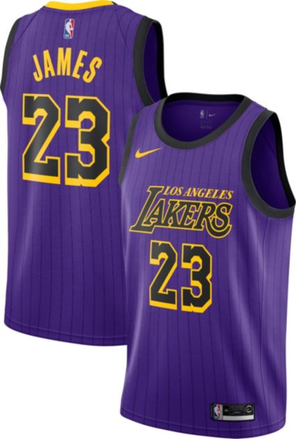 online store dea84 82c71 Nike Men s Los Angeles Lakers LeBron James Dri-FIT City Edition Swingman  Jersey ...