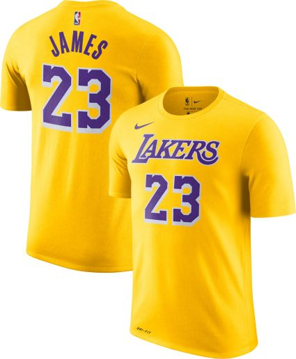 11aa09cc80e Nike Men s Los Angeles Lakers LeBron James Dri-FIT Gold T-Shirt ...