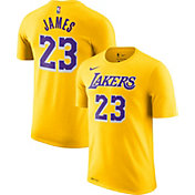 Nike Men's Los Angeles Lakers LeBron James Dri-FIT Gold T-Shirt