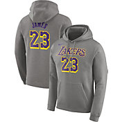 Nike Men's Los Angeles Lakers LeBron James Grey Pullover Hoodie