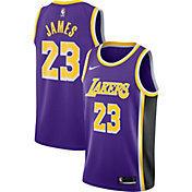Nike Men's Los Angeles Lakers LeBron James #23 Purple Dri-FIT Statement Swingman Jersey