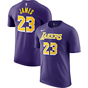 Nike Men's Los Angeles Lakers LeBron James Dri-FIT Statement Statement Purple T-Shirt