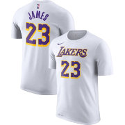 Nike Men's Los Angeles Lakers LeBron James Dri-FIT White T-Shirt