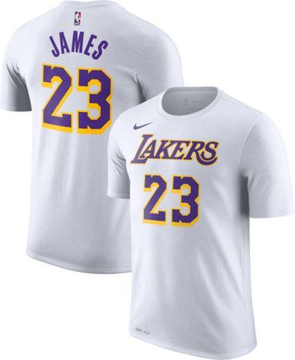 Nike Men's Los Angeles Lakers LeBron James Dri-FIT White T-Shirt