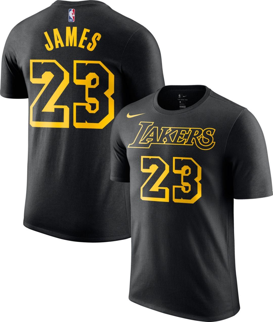 071cf191a Nike Men's Los Angeles Lakers LeBron James Dri-FIT City Edition T-Shirt 1