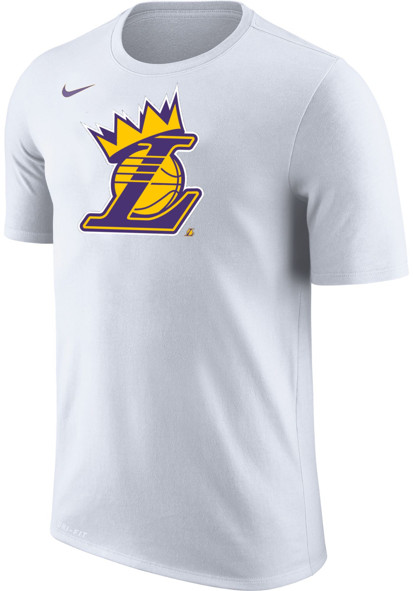 """Nike Men's Los Angeles Lakers """"King Is Crowned"""" White T-Shirt"""