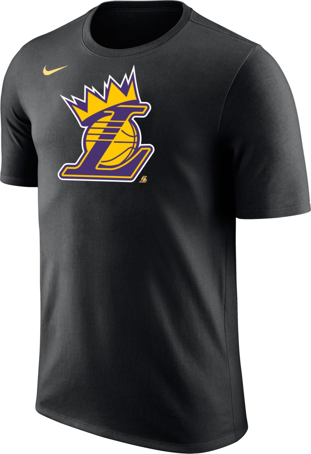 "new style 7d928 128a4 Nike Men's Los Angeles Lakers ""King Is Crowned"" Black T-Shirt"