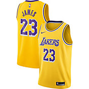 Nike Men's Los Angeles Lakers LeBron James #23 Dri-FIT Gold Swingman Jersey