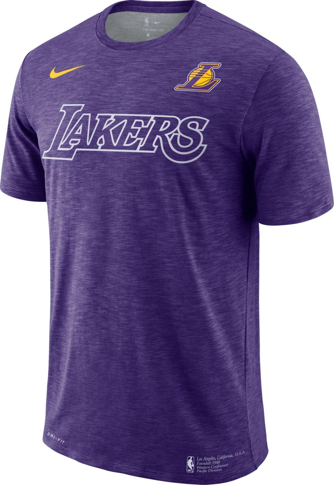 best service 9a0bb 03e2a Nike Men's Los Angeles Lakers Dri-FIT Facility T-Shirt
