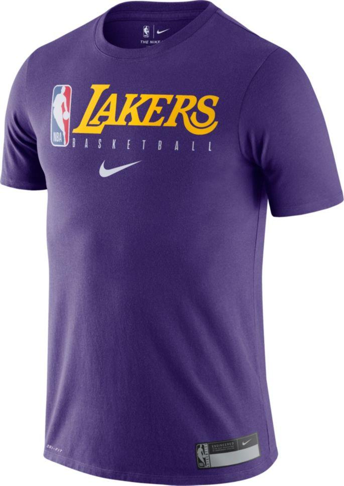 official photos 5adcd 9ce69 Nike Men's Los Angeles Lakers Dri-FIT Practice T-Shirt