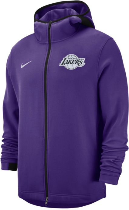 d65948c4688 Nike Men s Los Angeles Lakers On-Court Dri-FIT Showtime Full-Zip Hoodie