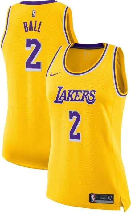 Nike Women s Los Angeles Lakers Lonzo Ball  2 Gold Dri-FIT Swingman ... d65707ca9f