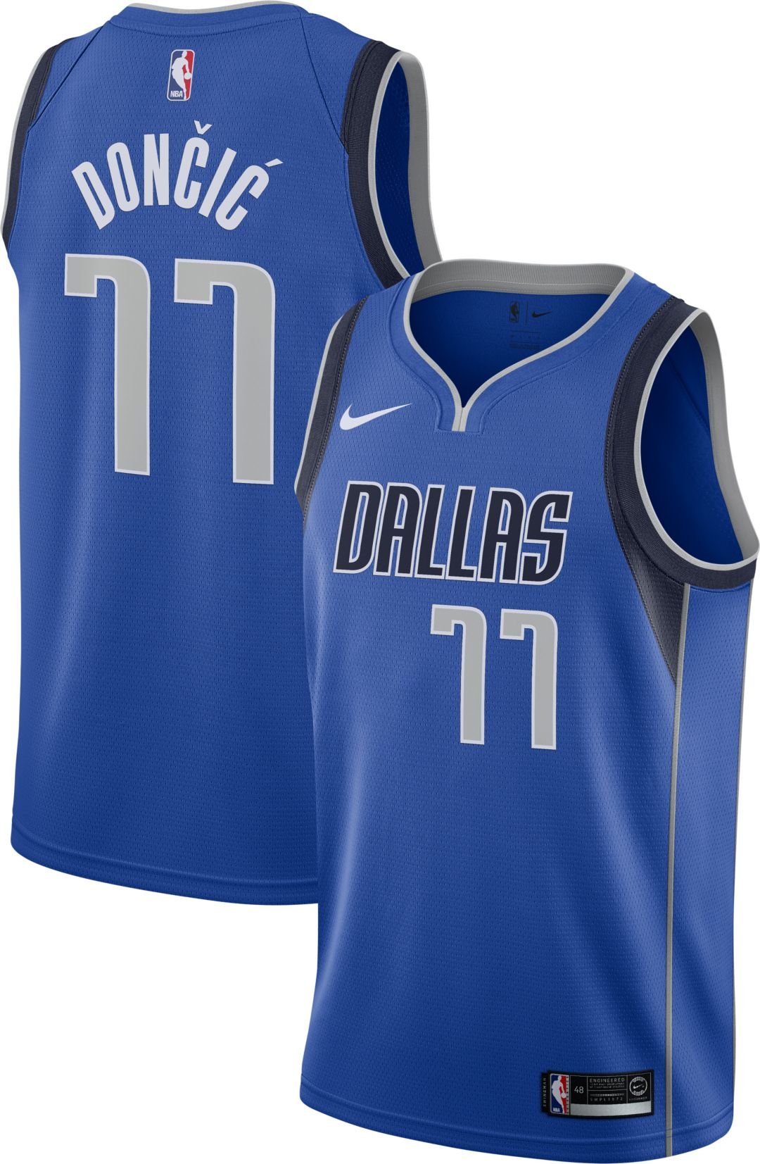 pretty nice b2c45 0c8d6 Nike Men's Dallas Mavericks Luka Doncic #77 Royal Dri-FIT Swingman Jersey