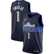 Nike Men's Dallas Mavericks Dennis Smith Jr. #1 Navy Dri-FIT Swingman Jersey