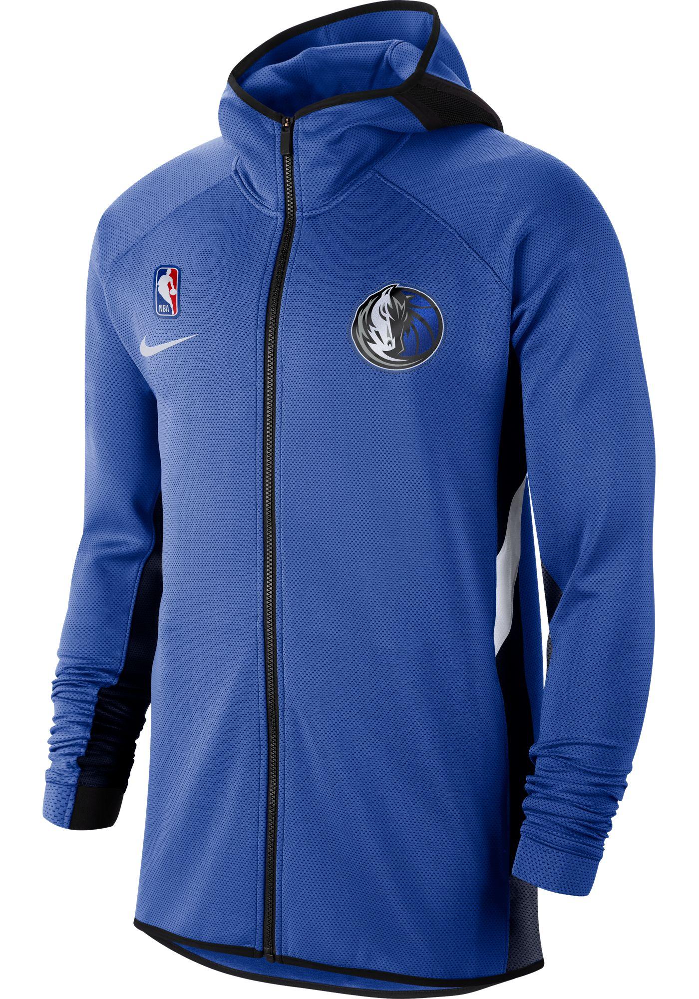 Nike Men's Dallas Mavericks On-Court Therma Flex Showtime Full-Zip Hoodie