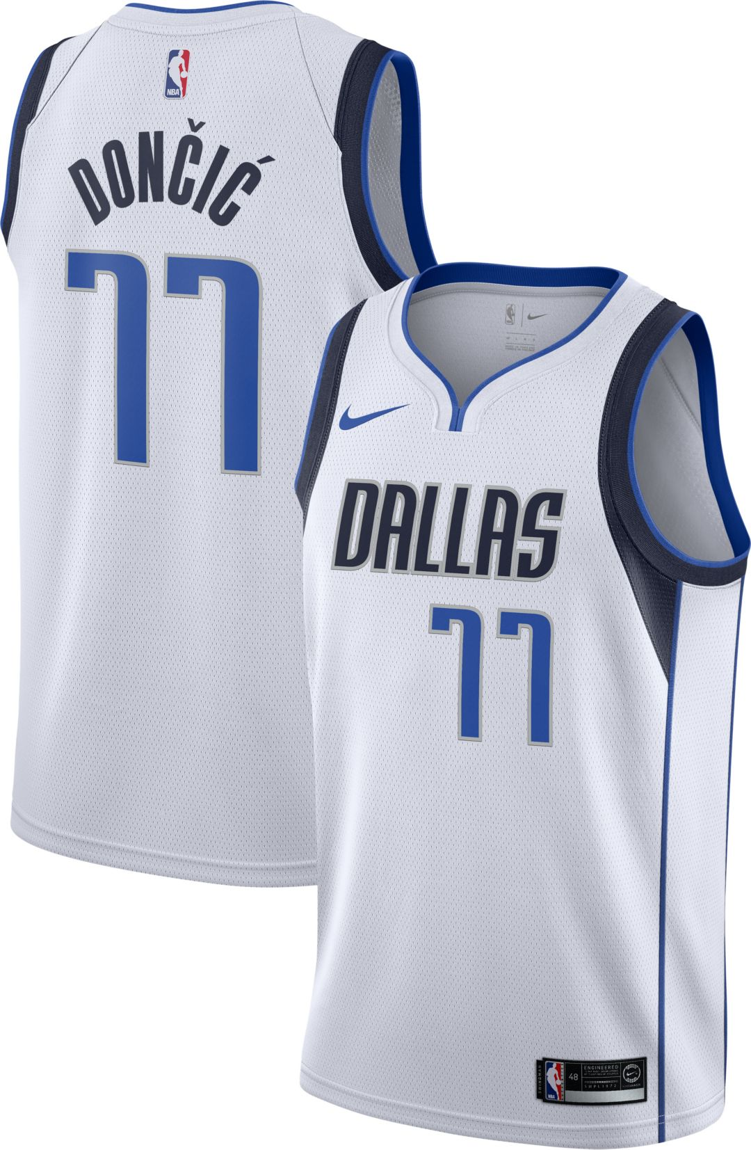 low priced da486 fb529 Nike Men's Dallas Mavericks Luka Doncic #77 White Dri-FIT Swingman Jersey